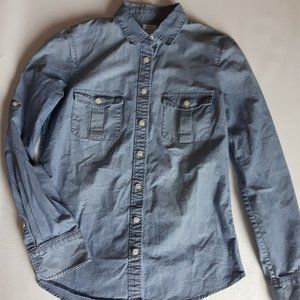 J Crew Denim Shirt Button Up XS